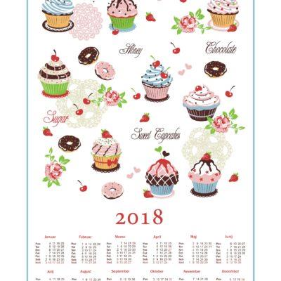 KITCHEN TOWEL, CALENDAR SILVIJA